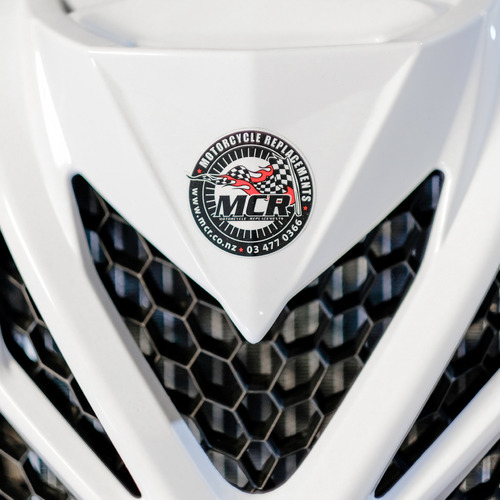 MCR Motorcycle Replacements Dunedin Detail Logo Helmet.