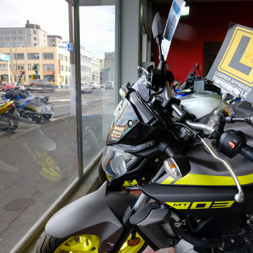 MCR Motorcycle Replacements Dunedin Showroom window