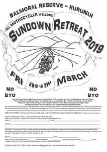 Sundown Retreat - 29-31 March 2019