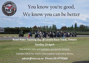 NEW DATE 20 September!! Road Rider Training Day - Pre-entries only
