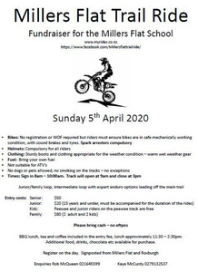 Millers Flat Trail Ride - Sunday 5 April