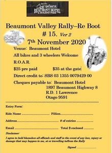 Beaumont Valley Rally - 7 November 2020