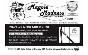 Magpie Madness Motorcycle Rally - 20-22 Nov
