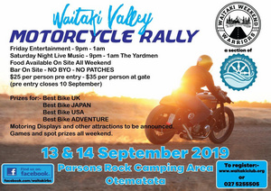 Waitaki Valley Rally 13 September 2019