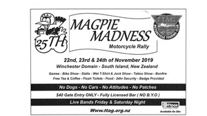 Magpie Madness Rally - 22-24 November