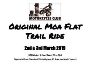 Blue Mountain Motorcycle Club - Original Moa Flat Trail Ride
